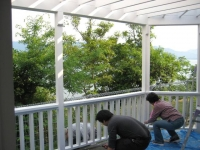 パーゴラ塗装1.JPG